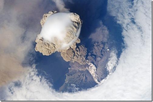 Извержение вулкана Пик Сарычева